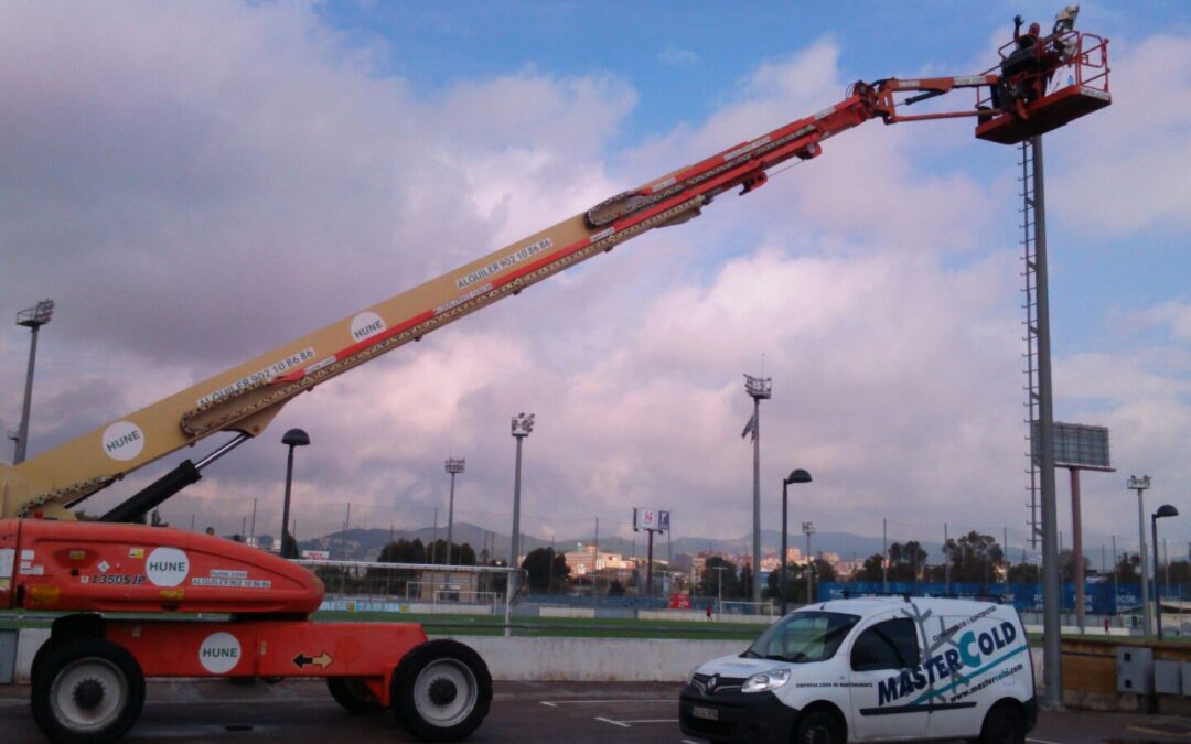 Grupo MasterCold cambio de luminarias en R.C.D. Espanyol