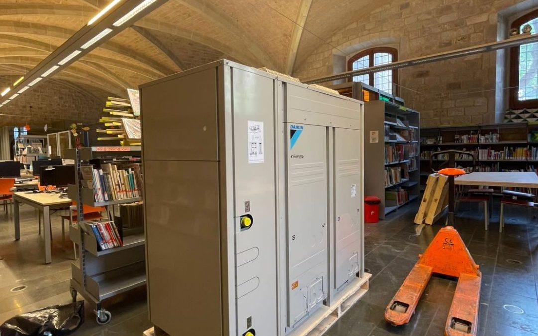 Grupo MasterCold don't Stop cambio de sistemas de Refrigeración en la Biblioteca Sant Pau-Santa Creu Bcn